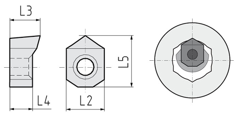 disegno inserto profilo esagonale interno OK