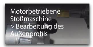 Motorbetriebene Stoßmaschine ibearbeitung des Außenprofils