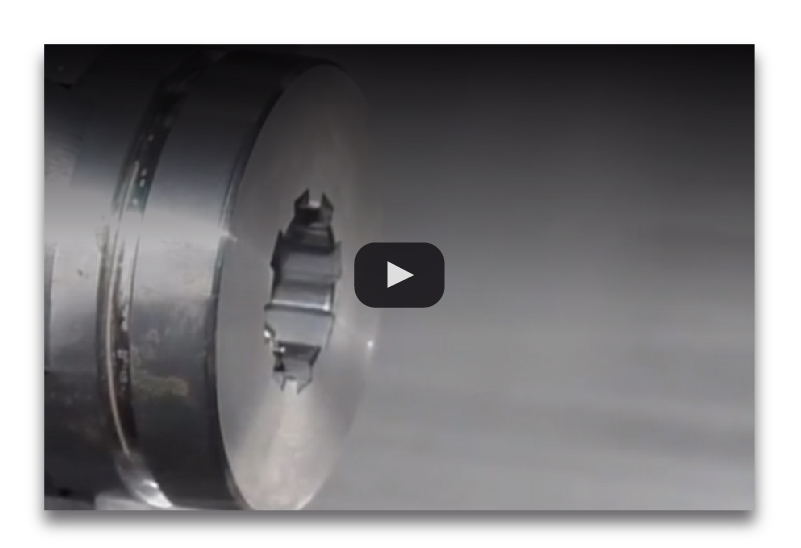 motorized slotting head internal machining