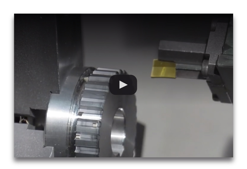 motorized slotting head machining external profile