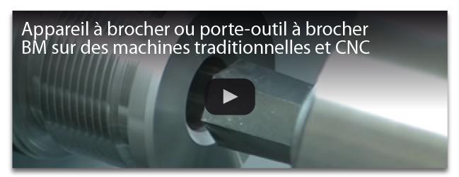 Appareil àbrocher ou porte-outil à brocher BM Sur des machines traditionnelles et CNC