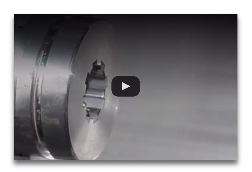 Ranurador accionado a motor mecanizado perfil interno